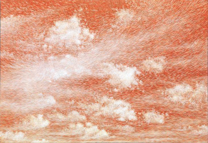 공기와 꿈 80.3x116.7cm 캔스에 염색한지 위에 한지 2014