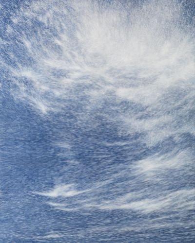 공기와 꿈   227x182cm 캔버스에 염색한지 위에 한지 2013