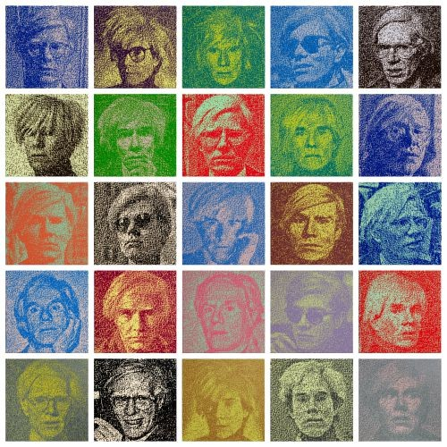 Andy Warhol, 2017, Oil on canvas, each 32x32cm