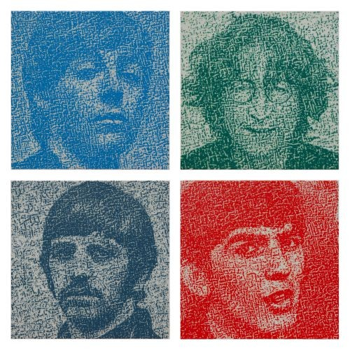 The Beatles, 2017, Oil on canvas, each 32x32cm