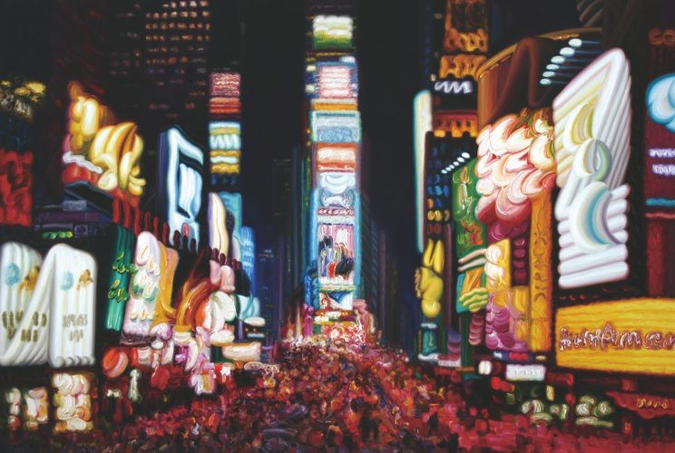 Times Square, 2012, Oil on Canvas, 130.3x193.3 cm