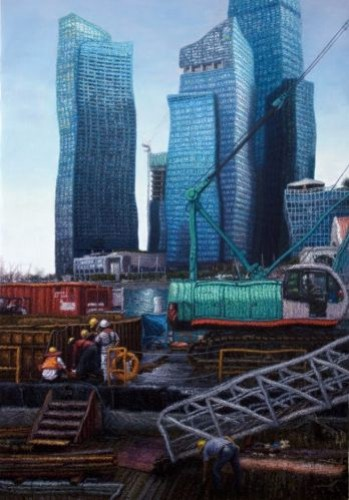 City Scape , 2011, Oil on canvas, 140x97 cm