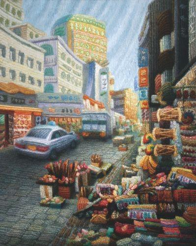 City Scape, 2007~2012, Oil on Canvas, 90.9cm x 72.7cm
