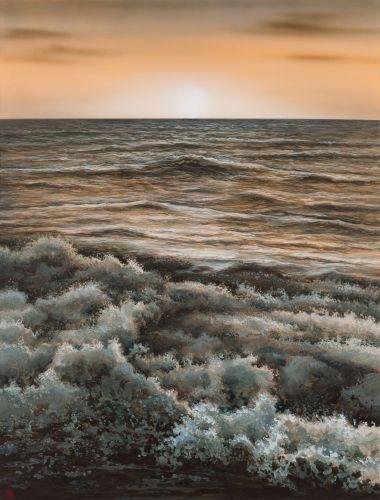 어느 이방인의 노래중에서 황혼, 2015,  Acrylic on canva, 127×96.52 cm