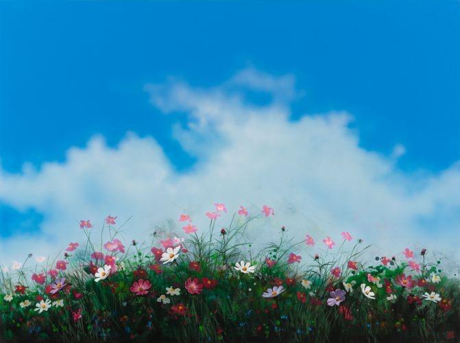 어느 이방인의 노래중에서 가을의 향기, 2015,  Acrylic on canvas,  91.44×121.92 cm