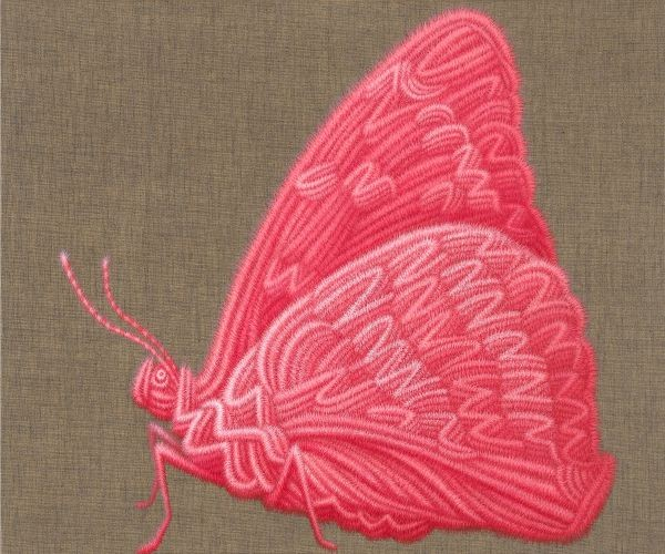 Butterfly,  2015,   Oil on canvas,  60.6x72.7 cm