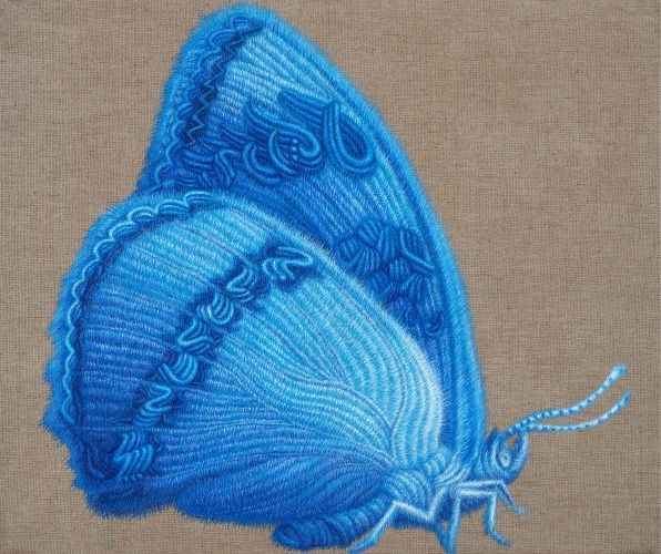 Butterfly,  2008,   Oil on canva,s  60.6x72.7 cm