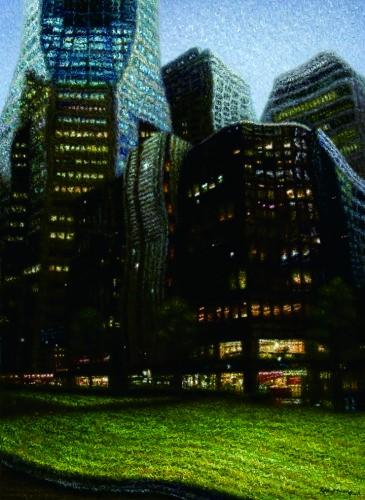 City Scape, 2011, Oil on canvas, 73x53 cm