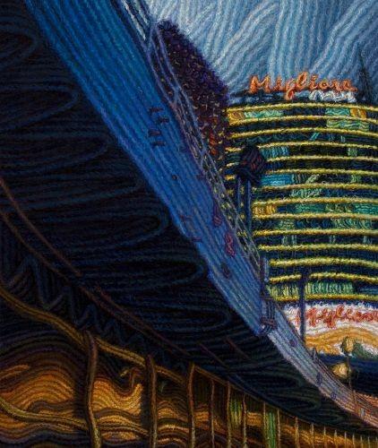 City Scape,  2010,  Oil on canvas,  72.5x60.3 cm