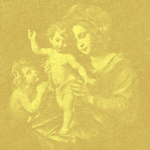 Madonna and Child,  2015,  Oil on canvas,  180×180㎝