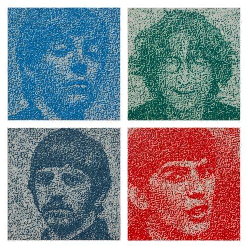 The Beatles, 2017, Oil on canvas, each 32x32cm