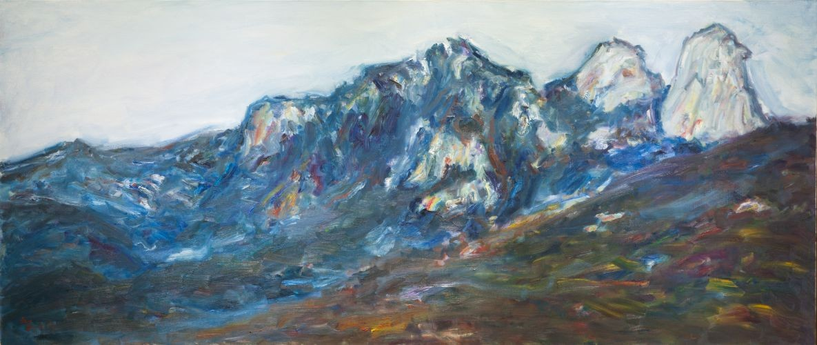 북한산,  2006,  Oil on canvas,  85.5x200㎝
