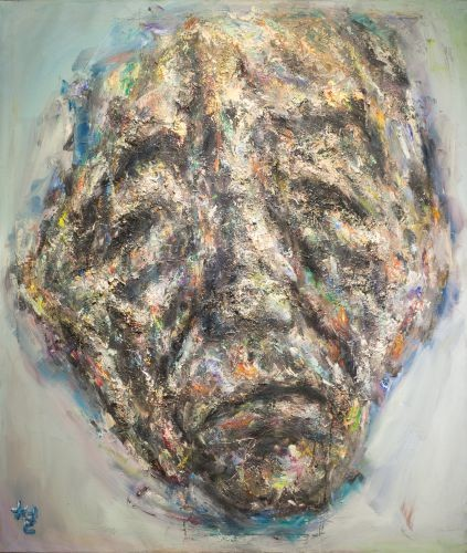 얼굴,  2009,  Oil on canvas,  119.5x 40.5㎝