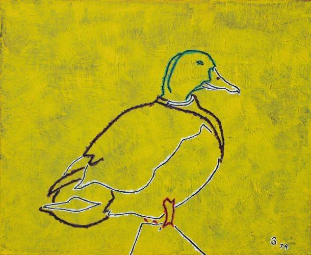 Wild duck,   2009,  Oil on canvas,  61x50㎝