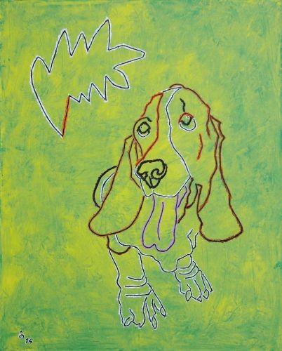 Basset hound,   2014,  Oil on canvas,   65x81㎝