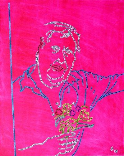 Man who picks me,  2015,  Oil on canvas,   65x81㎝