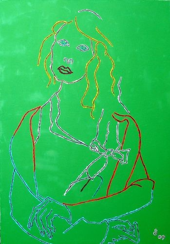Pose as the Mona Lisa ,  2009,  Oil on canvas, 92x65㎝