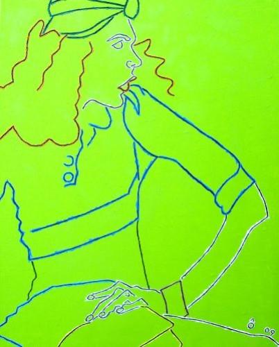 Piercing glance,   2009,  Oil on canvas,  81x65㎝