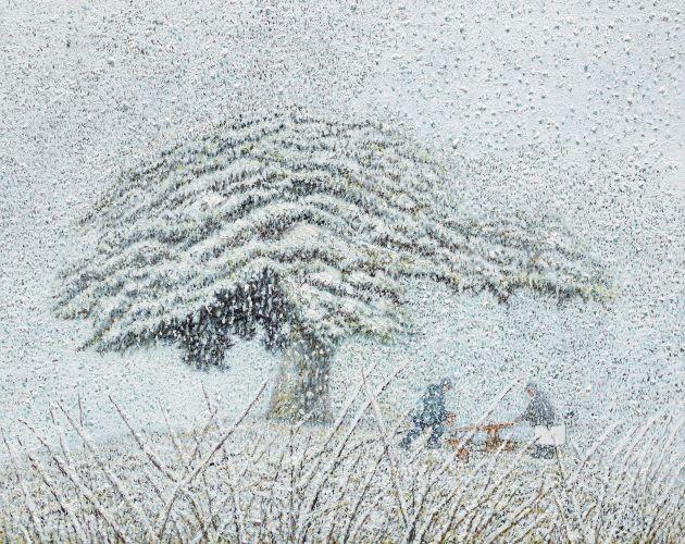 친구가 권유한 향나무 3,  2007, Oil on canvas,  41x52.8cm