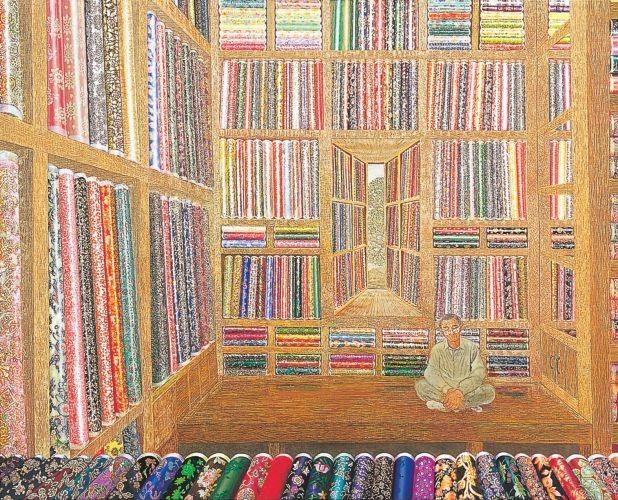 비단장사 왕서방,  2009,  Oil on canvas,  130x162cm