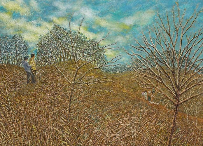 친구 정군이 권유한 바람 쐬는 날 1,  2010-2012,  Oil on canvas,  74.5x104cm