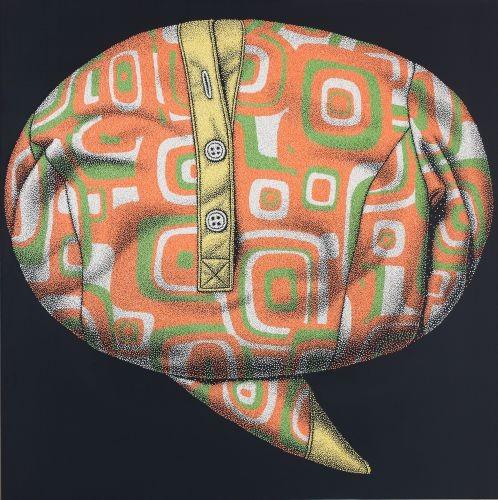 공허한 말풍선,  2011,  acrylic on canvas , 120×120cm